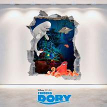 Parete del foro Disney 3D vinile cercando di Dory