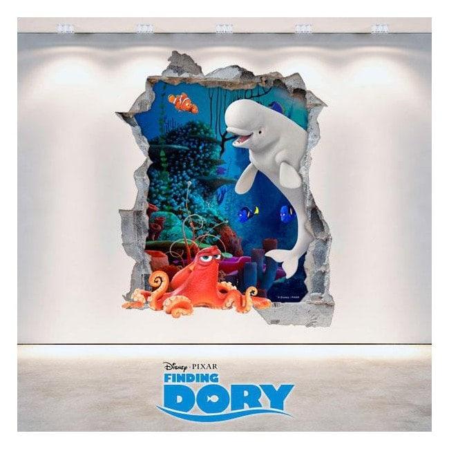 Parete del foro vinile 3D Disney alla ricerca di Dory