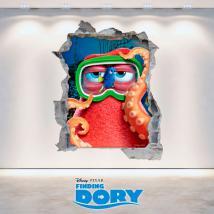 Vinile foro muro Disney alla ricerca di Dory 3D