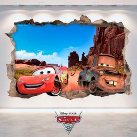 Parete del foro vinile Disney Cars 3D