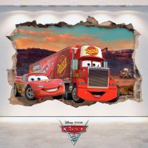 Adesivo 3D Disney Cars 2 Italian 4781