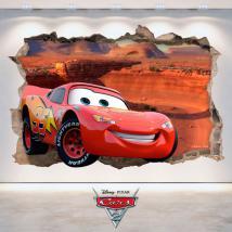 Autoadesivo della parete di foro Disney Cars 2 3D