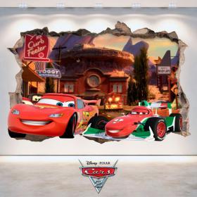 Parete del foro adesivi Disney 3D Cars 2