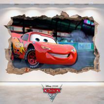 Foro di Disney Cars 2 adesivo parete 3D Italian 4788