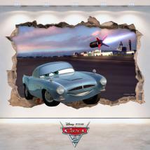 Foro di vinile parete 3D Disney Cars 2