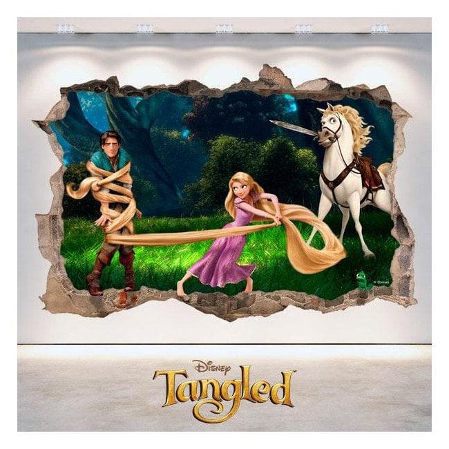 Aggrovigliato Disney vinile buco 3D muro