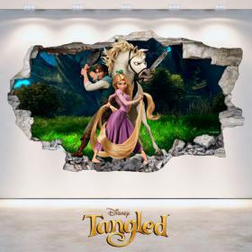 Adesivi Disney tangled Tangled 3D