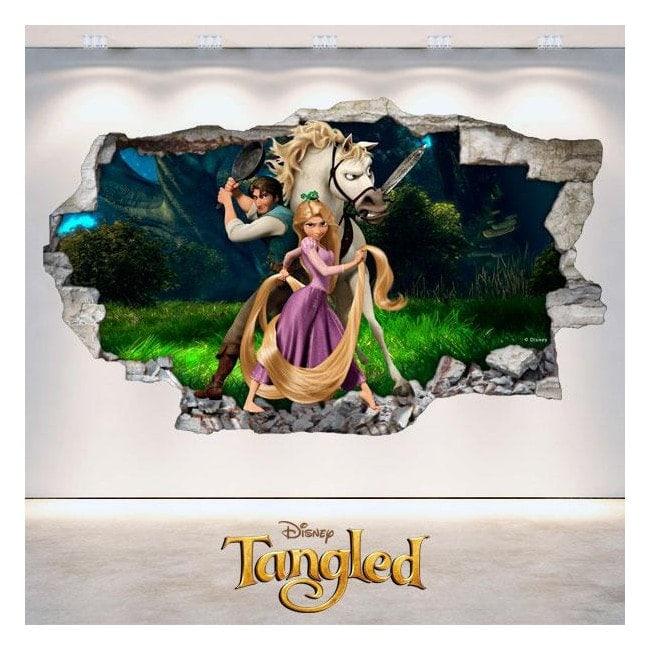 Adesivi Disney tangled Tangled 3D Italian 4831