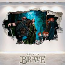 Brave Disney foro vinile parete 3D