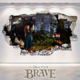 Parete del foro vinile Brave Disney 3D