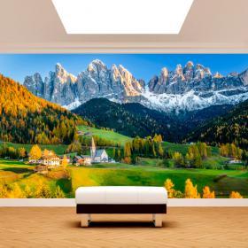 Fotomural montagne Funes Italia