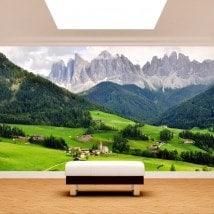 Montagne di foto parete murales Funes Italia
