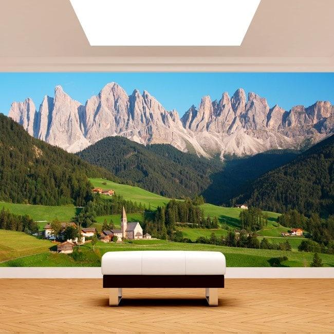 Fotomurali montagne dolomiti italia for Foto murali 3d