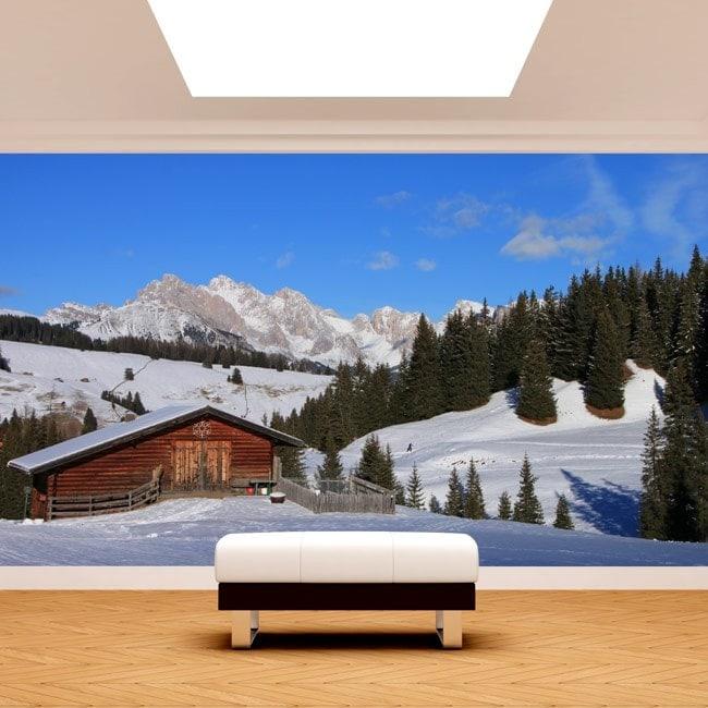 Montagne di foto parete murales Siusi Alpi Italia