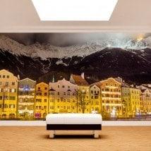 Fotomurali Innsbruck Austria di notte