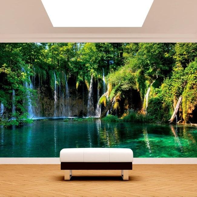 Cascate di murales muro foto nella natura