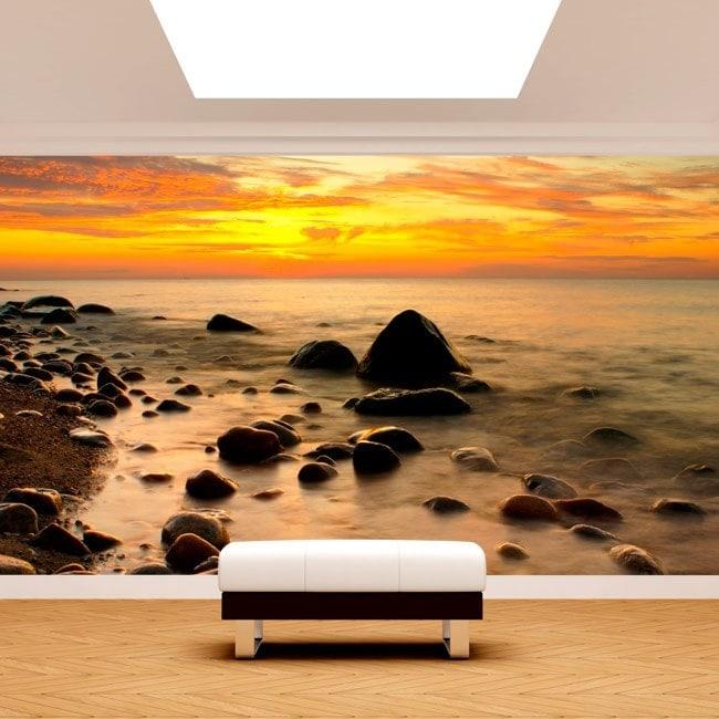 Fotomural tramonto sul Mar Baltico