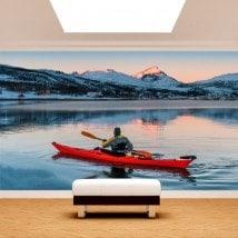 Fotomural Kayak sul lago