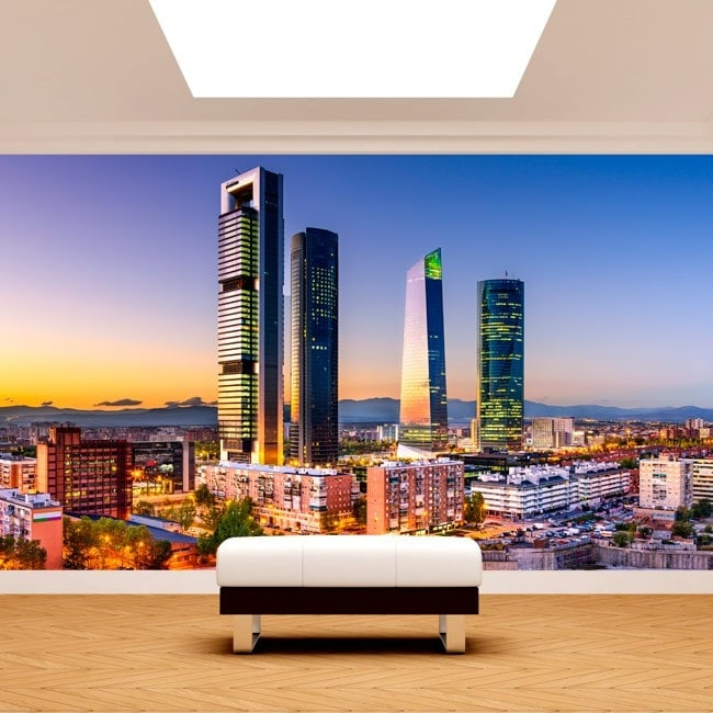 Fotomurali Madrid città finanziaria