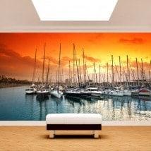Porto di Barcellona murales muro foto