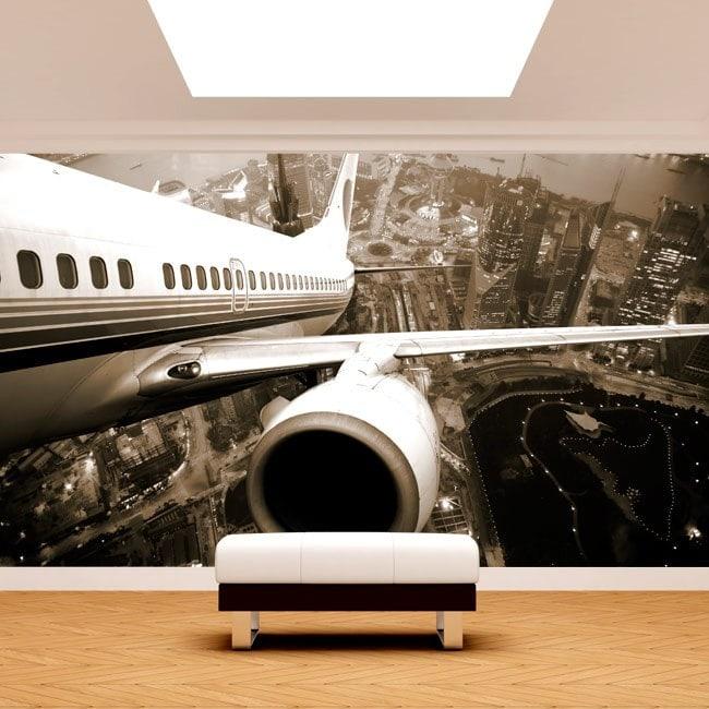 Fotomural aerei sopra New York
