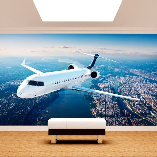 Fotomural Jet nel cielo