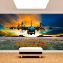 Murales fotografici di atterraggio di velivoli