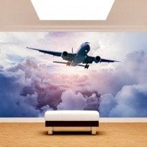 Fotomural aerei tra le nuvole