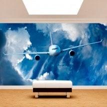 Gigantografie di foto dell'aeroplano nel cielo
