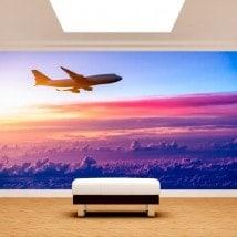 Fotomural aereo tra le nuvole