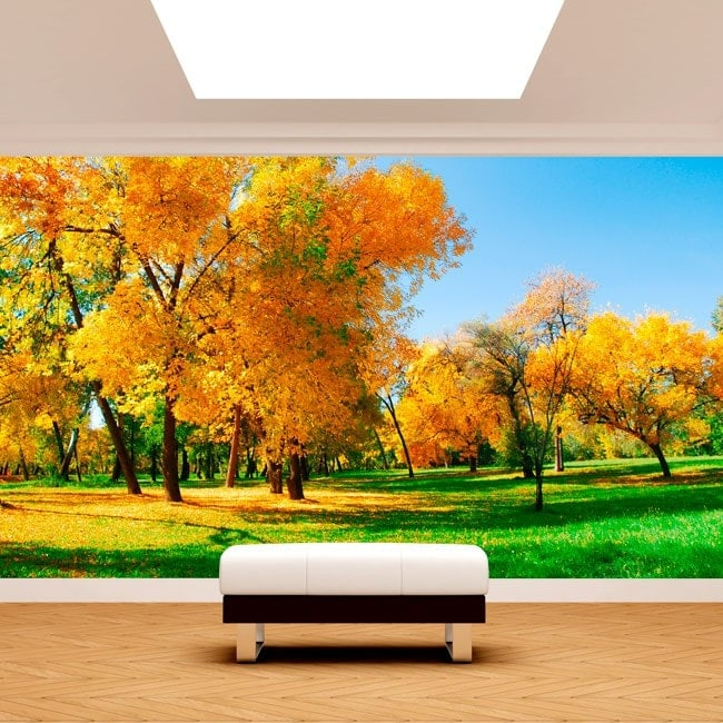 Foto muro murales albero nel campo