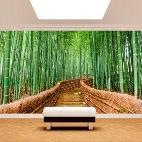 Scale di bambù di foto parete murales