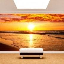 Fotomural tramonto sulla spiaggia