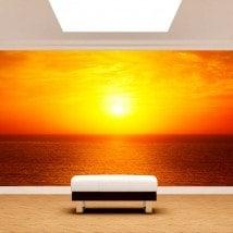 Fotomurali sole tramonto sul mare