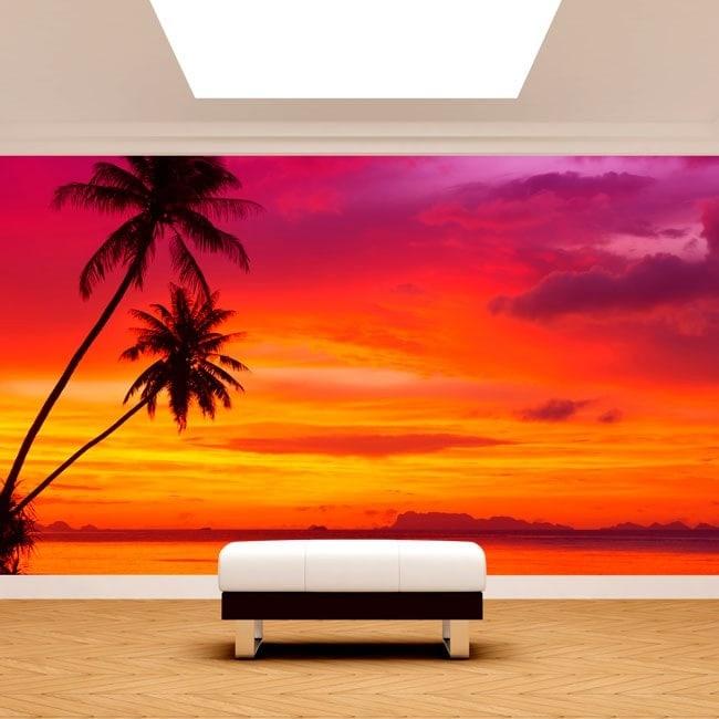 Fotomurali Palms Sunset Beach
