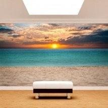 Fotomurali mettere del sole nella spiaggia