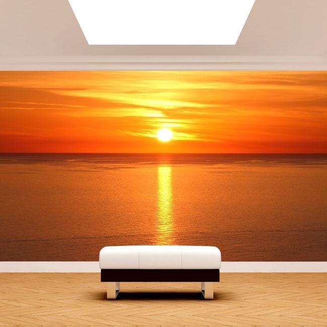Fotomural attuazione del sole nel mare