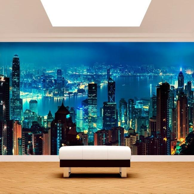 Fotomurali città di Hong Kong