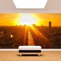 Fotomurali Parigi al tramonto