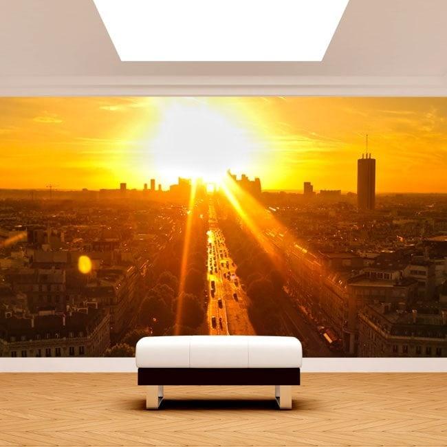 Gigantografie di foto di Parigi al tramonto