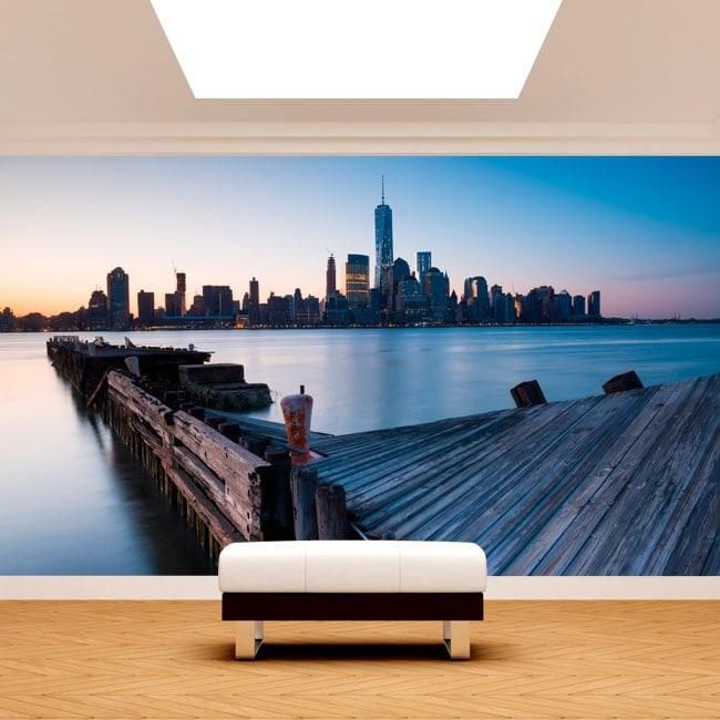 Edifici di foto parete murales Manhattan