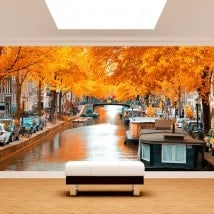 Fotomurali Amsterdam in autunno