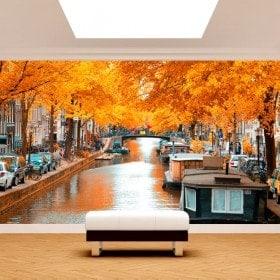 Gigantografie di foto di Amsterdam in autunno