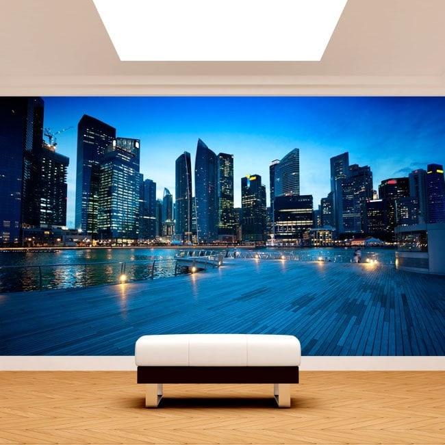 Città di Singapore murales muro foto