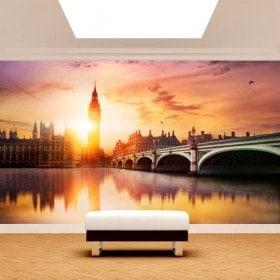 Tramonto di foto parete murales Big Ben a Londra