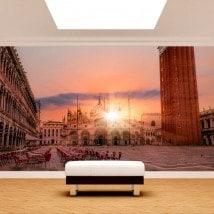 Tramonto di foto parete murales Plaza San Marco
