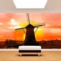 Fotomurali mulino Olanda