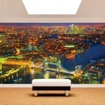 Murales fotografici di notte di Londra