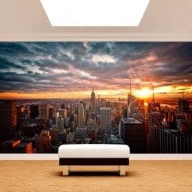 Tramonto di Manhattan di foto parete murales