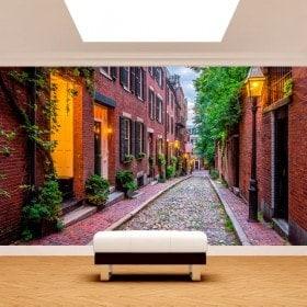 Fotomurali strade di Boston